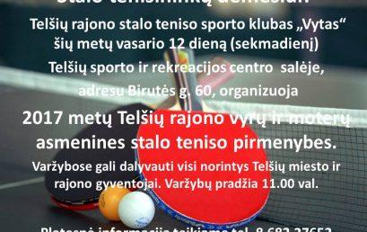 Stalo teniso mėgėjų dėmesiui!!!