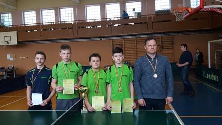 Telšių jaunučių stalo teniso komanda – Lietuvos čempionė