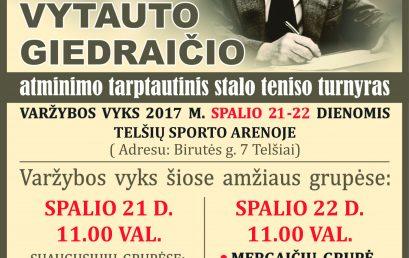 V.Giedraičio atminimo tarptautinis stalo teniso turnyras