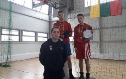 Bokso čempionate jaunučiai iškovojo medalius