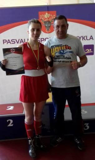 Lietuvos jaunių bokso čempionate – Vitalija antra