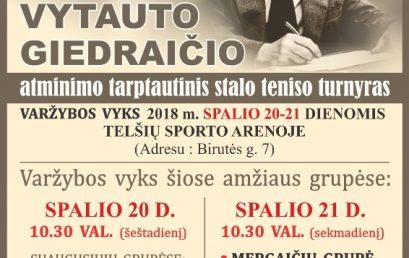 Lietuvos nusipelniusio stalo teniso trenerio Vytauto Giedraičio atminimo stalo teniso turnyras