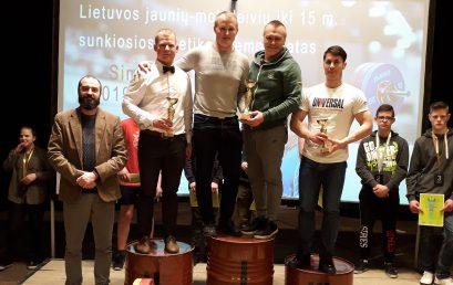 Telšių sporto ir rekreacijos centro auklėtinių kovos Lietuvos sunkiosios atletikos čempionate