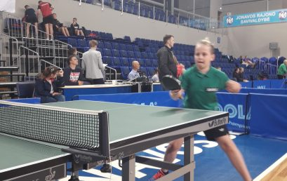 Sėkmingas  stalo tenisininkų pasirodymas tarptautiniame turnyre