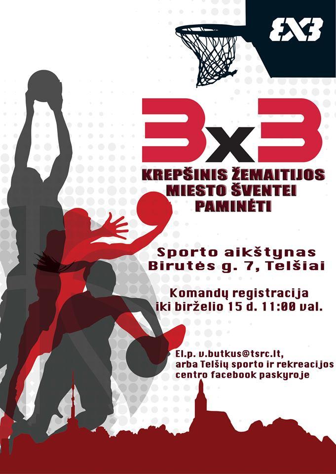 Krepšinio 3×3 varžybos Žemaitijos miesto šventei paminėti