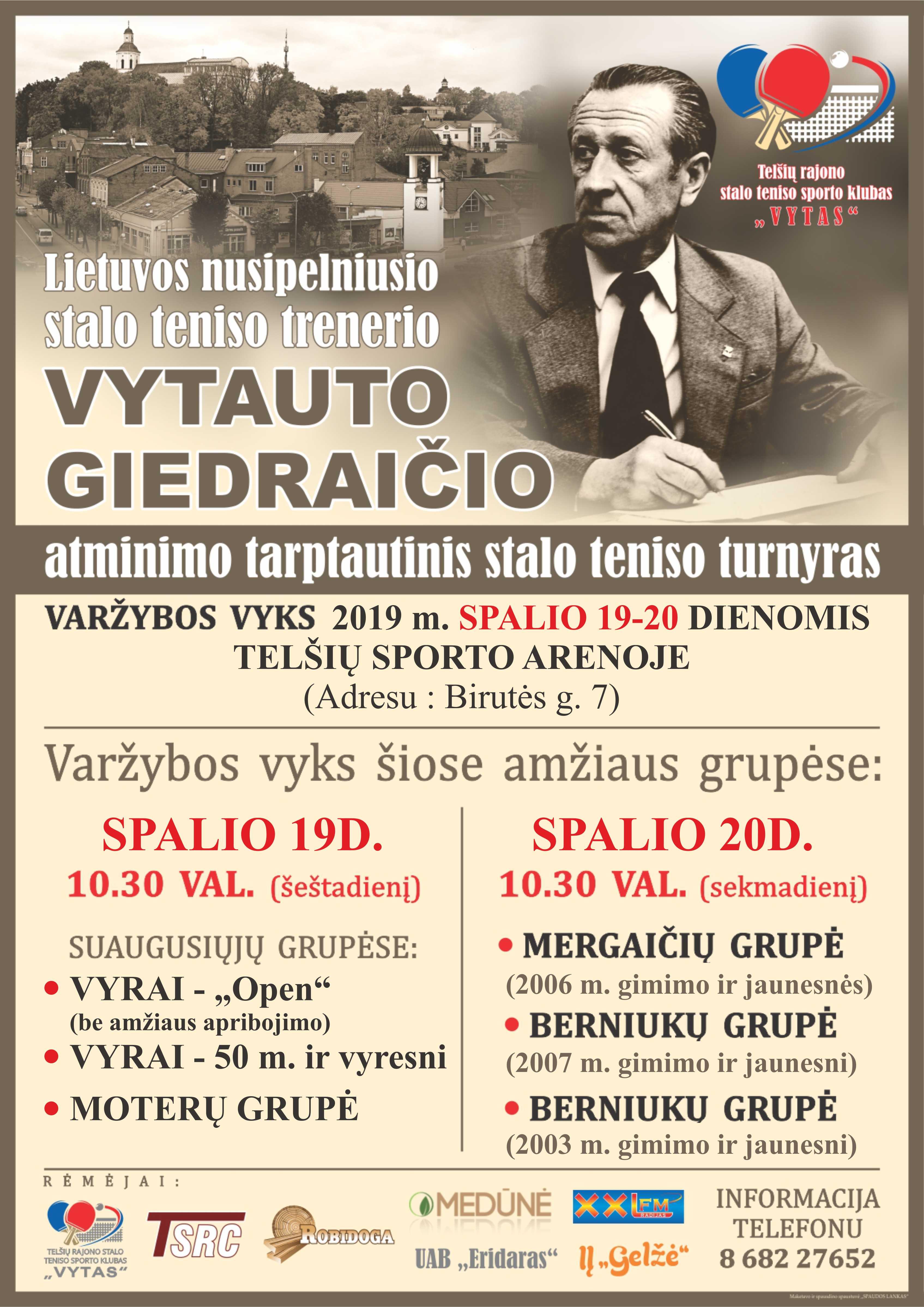 Vytauto Giedraičio atminimo tarptautinis stalo teniso turnyras
