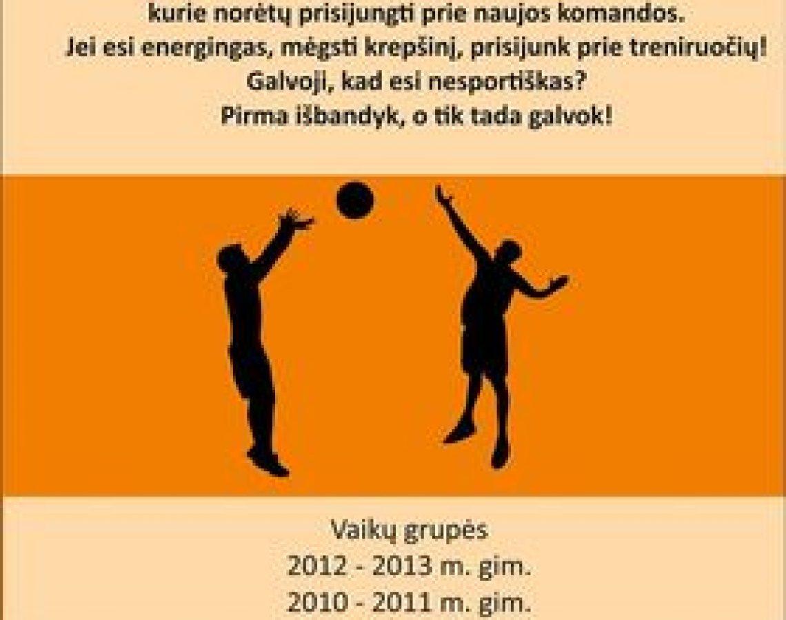 Kviečiame lankyti krepšinio treniruotes